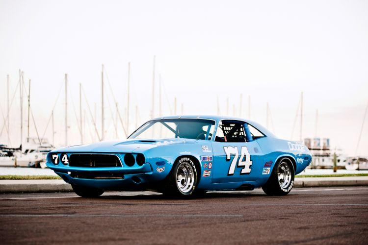 1973 Dodge Challenger NASCAR Race Car Old Classic USA -08 wallpaper