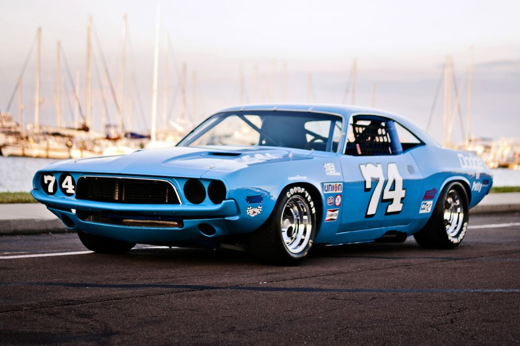 1973 Dodge Challenger NASCAR Race Car Old Classic USA -13 wallpaper