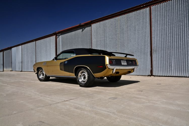 1971 Plymouth Cuda Hemi 440 Muscle Old Classic Original USA -03 wallpaper