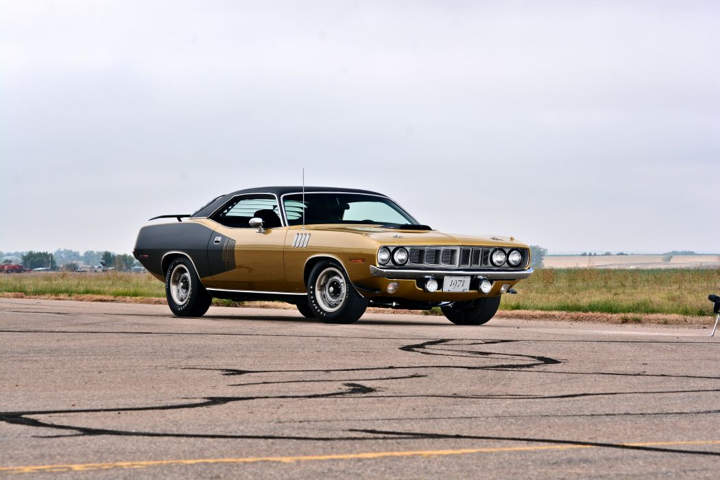 1971 Plymouth Cuda Hemi 440 Muscle Old Classic Original USA -16 wallpaper