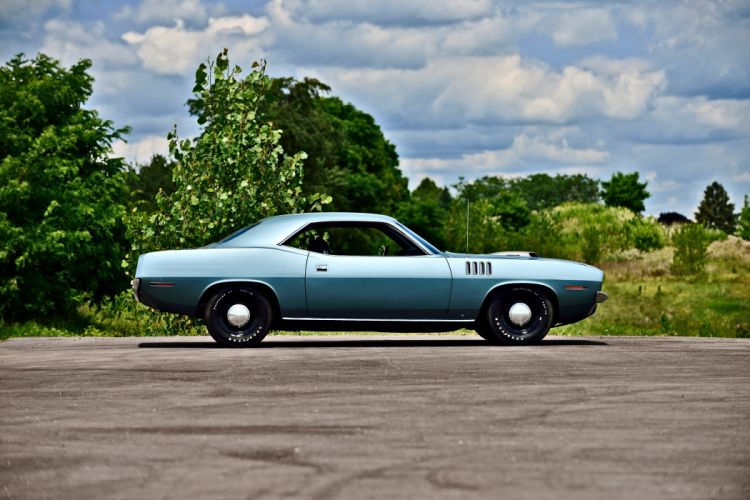 1971 Plymouth Hemi Cuda Muscle Old Classic USA -02 wallpaper