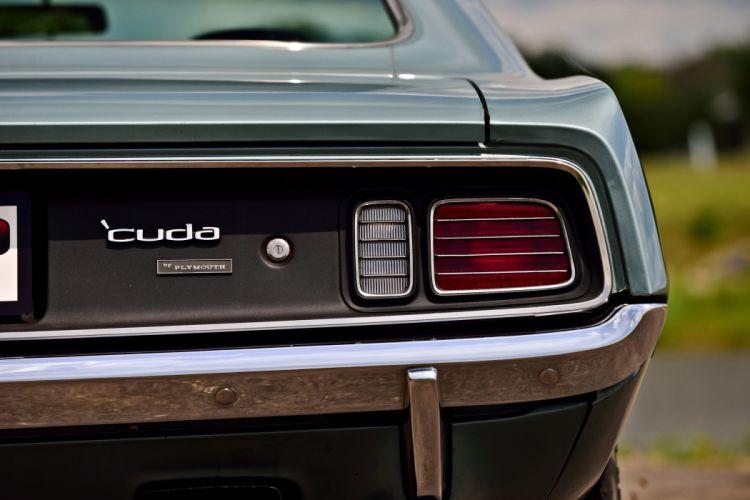 1971 Plymouth Hemi Cuda Muscle Old Classic USA -11 wallpaper
