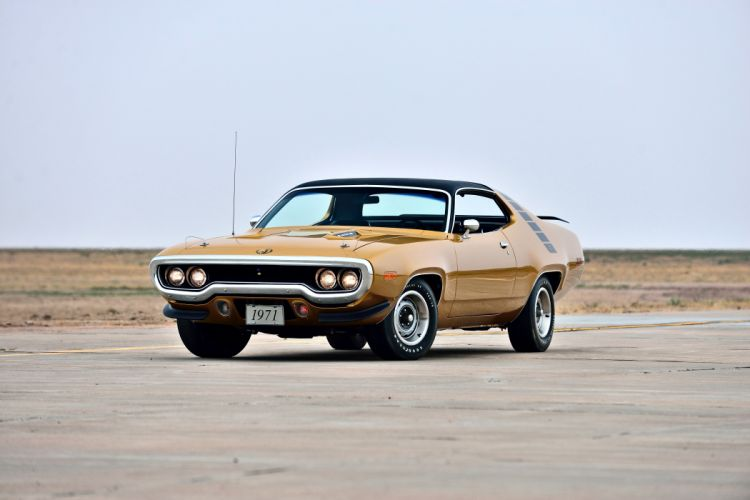 1971 Plymouth Road Runner Hemi 440 Muscle Old Classic Original USA -01 wallpaper