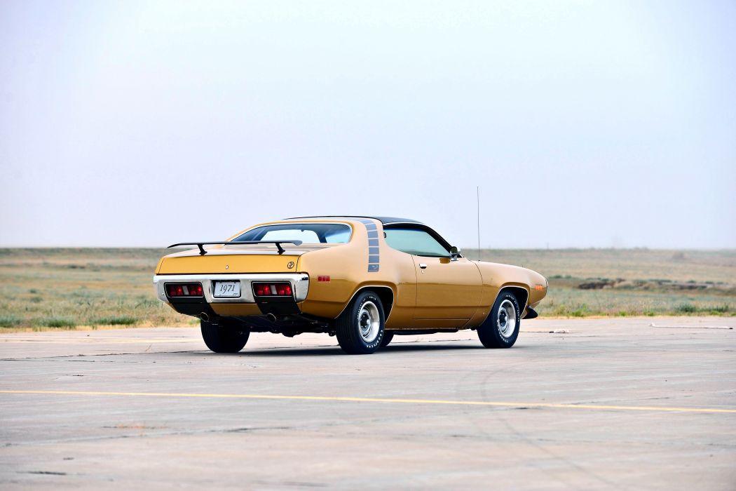 1971 Plymouth Road Runner Hemi 440 Muscle Old Classic Original USA -03 wallpaper