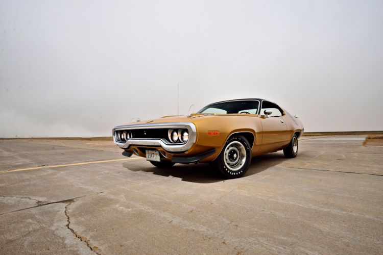 1971 Plymouth Road Runner Hemi 440 Muscle Old Classic Original USA -07 wallpaper