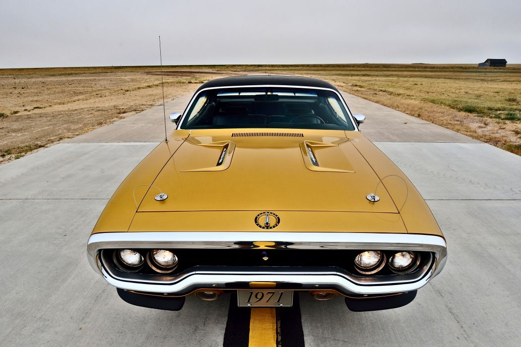 1971 Plymouth Road Runner Hemi 440 Muscle Old Classic Original USA -22 wallpaper