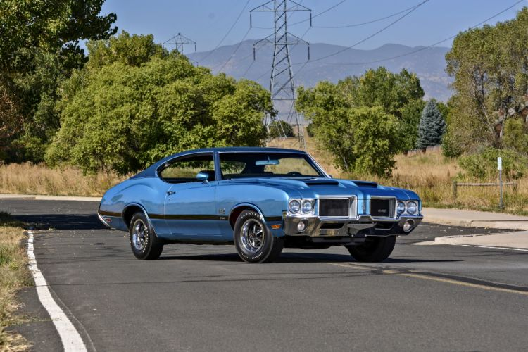 1971 Oldsmobile Coupe 442 W-301 Muscle Old Classic Original USA -01 wallpaper