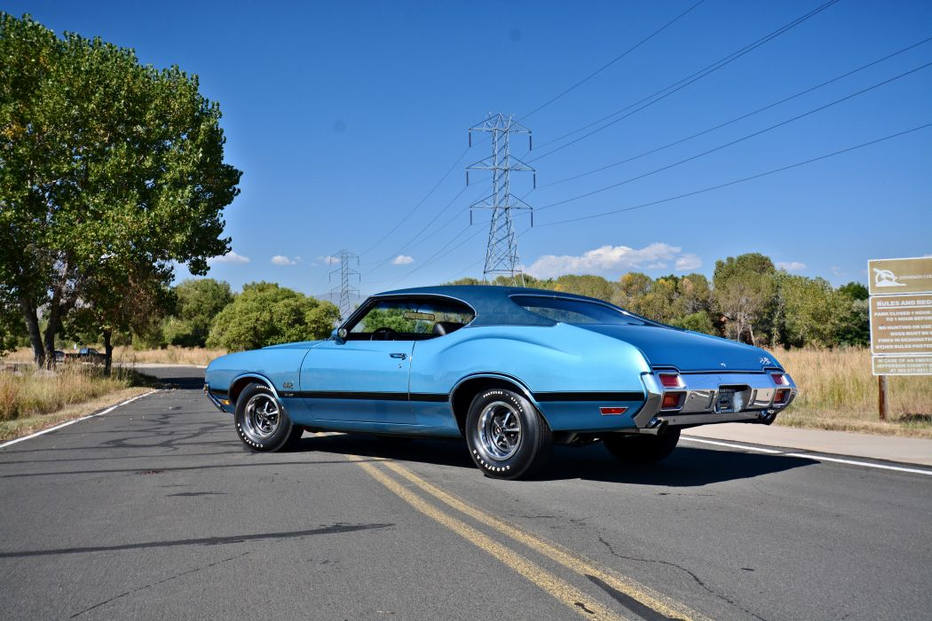 1971 Oldsmobile Coupe 442 W-301 Muscle Old Classic Original USA -03 wallpaper