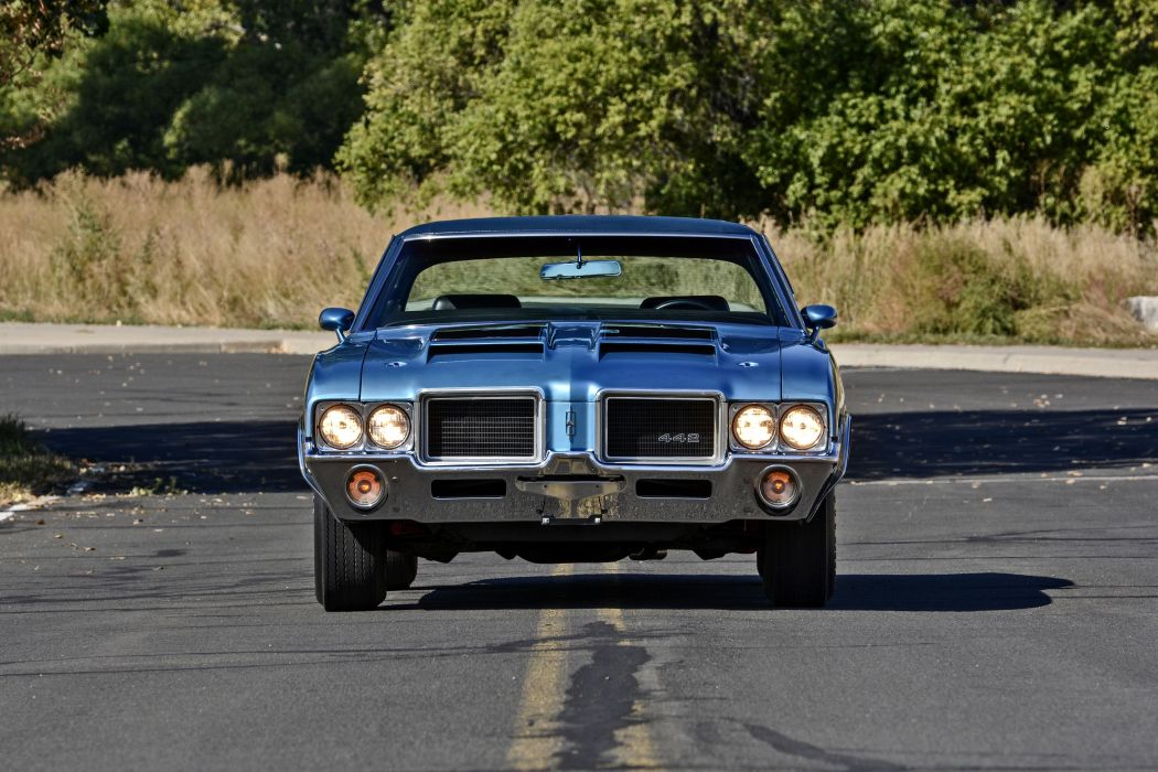 1971 Oldsmobile Coupe 442 W-301 Muscle Old Classic Original USA -08 wallpaper