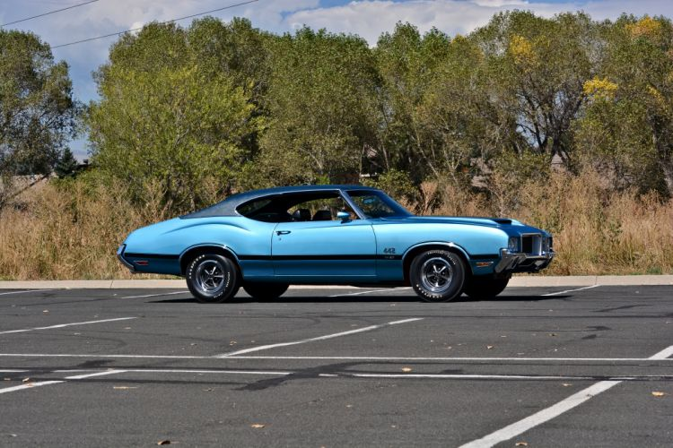 1971 Oldsmobile Coupe 442 W-301 Muscle Old Classic Original USA -25 wallpaper