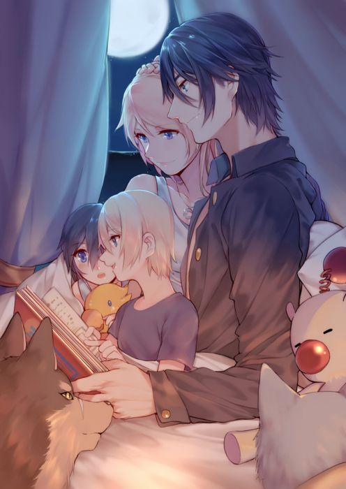 family anime couple child cute wallpaper