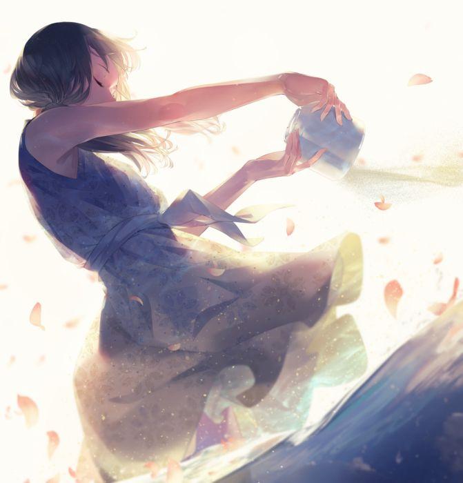 Sawasawa Original Anime Art girl dress dance wallpaper