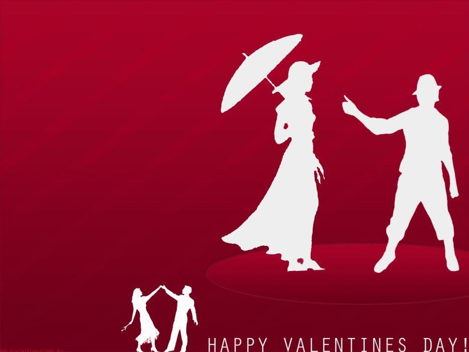 Valentines Day siluetas aenamorados wallpaper