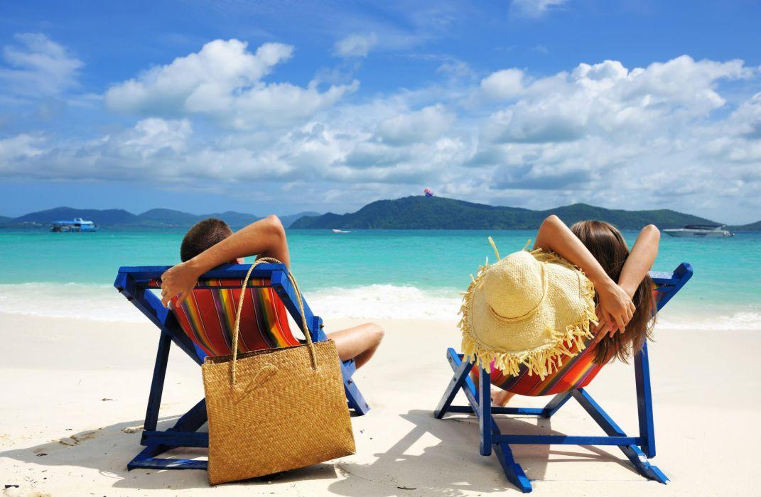 vacaciones playa hamaca descanso wallpaper