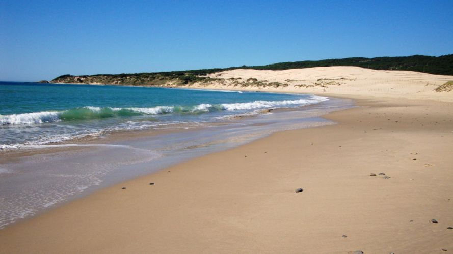playa solitaria dunas wallpaper