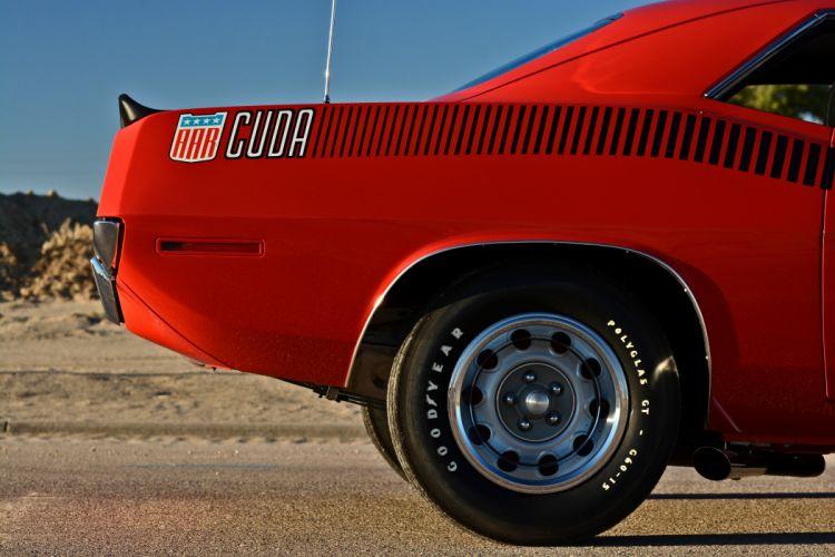 1970 Plymouth Hemi AAR Cuda 440 Six Barrel Muscle Old Classic Original USA -11 wallpaper
