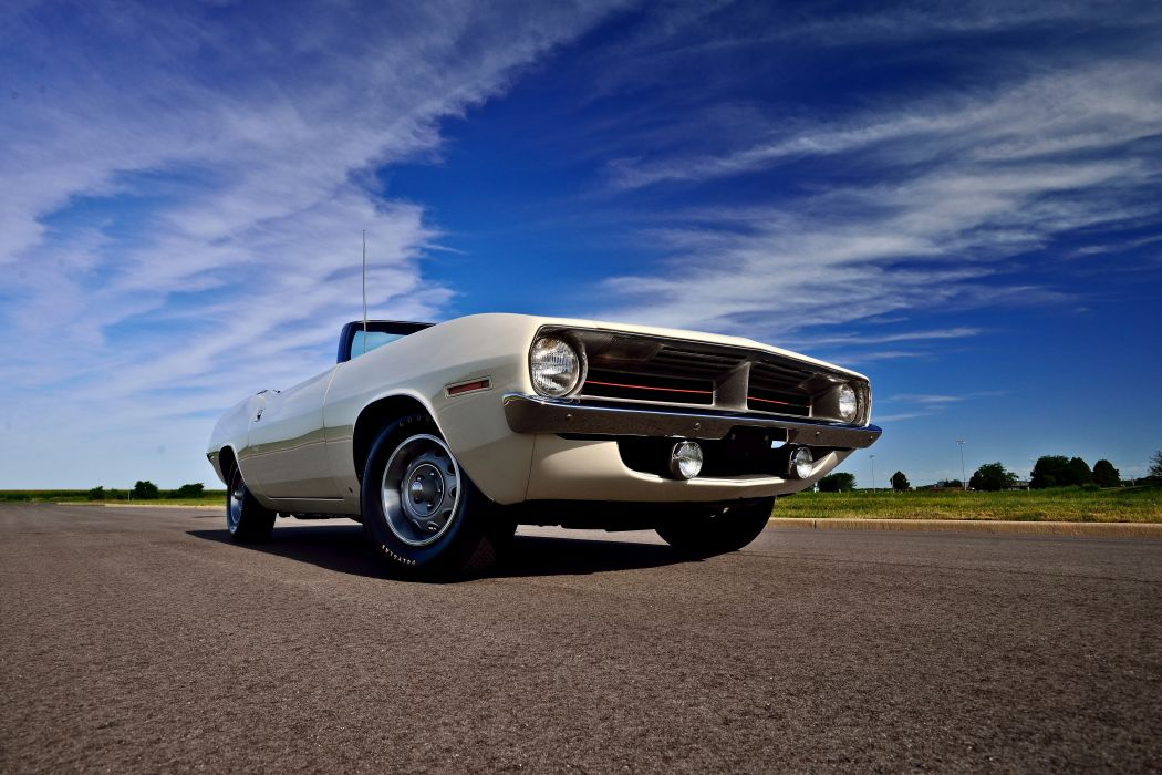 1970 Plymouth Hemi Cuda 440 Convertible Muscle Old Classic Original USA -08 wallpaper
