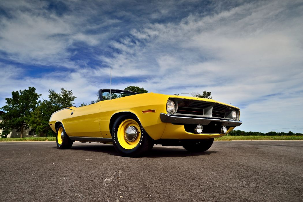 1970 Plymouth Hemi Cuda Convertible Muscle Old Classic Original USA -08 wallpaper