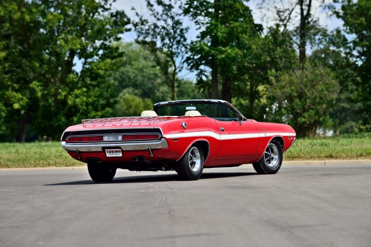 1970 Dodge Challenger RT 440 Six Pack Convertible Muscle Old Classic Original USA -03 wallpaper