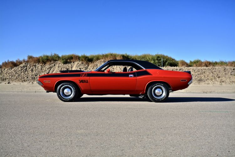 1970 Dodge Challenger TA 340 Six Pack Muscle Old Classic Original USA -02 wallpaper