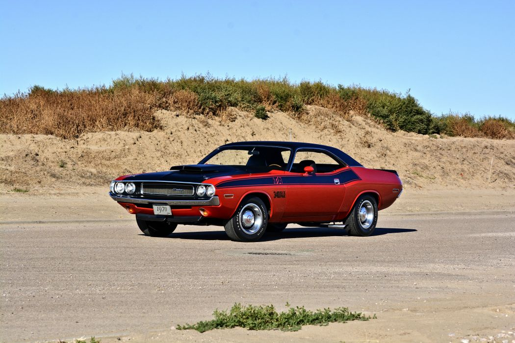 1970 Dodge Challenger TA 340 Six Pack Muscle Old Classic Original USA -01 wallpaper