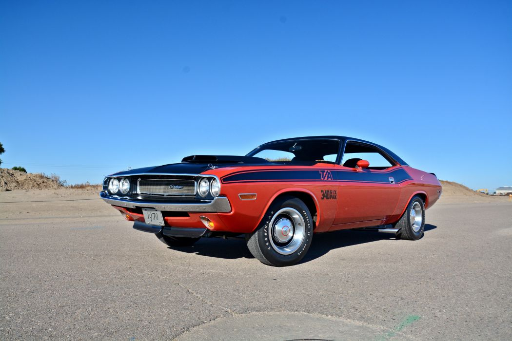 1970 Dodge Challenger TA 340 Six Pack Muscle Old Classic Original USA -12 wallpaper