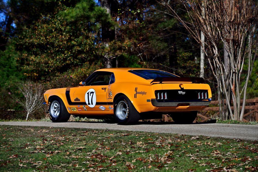 1970 Ford Mustang Boss 302 Kar Kraft Trans Am Racer Classic Old USA -03 wallpaper