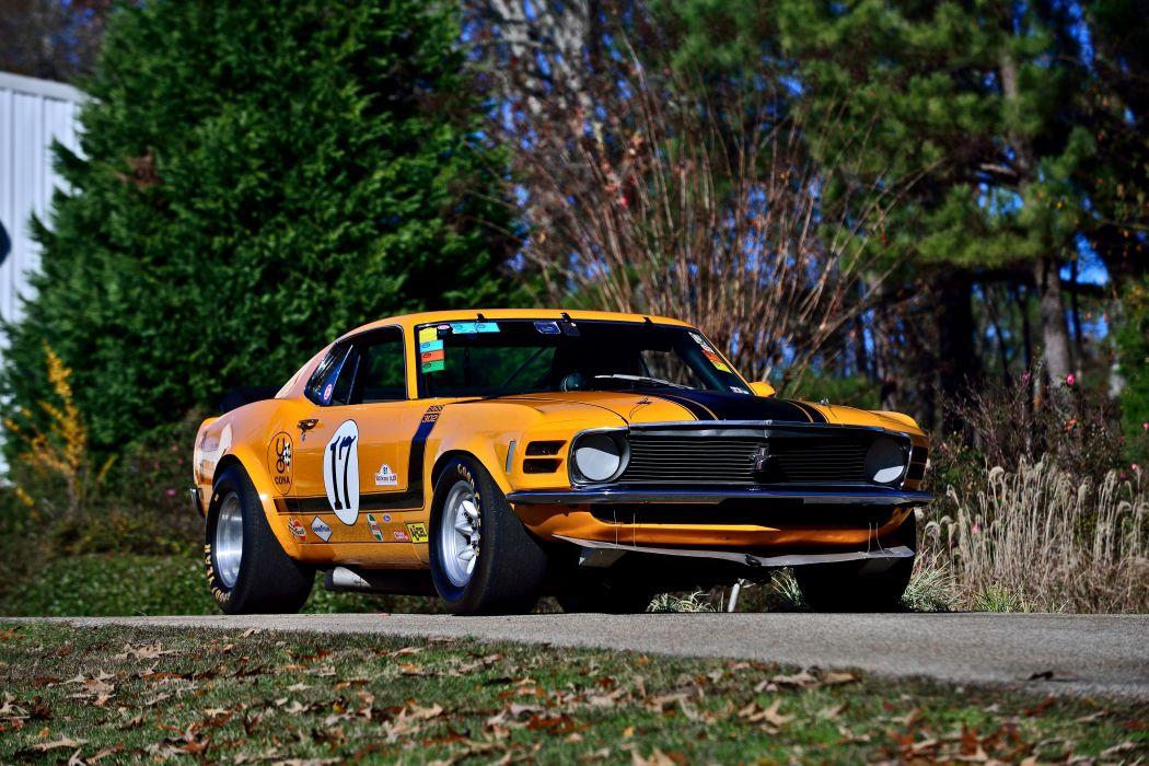 1970 Ford Mustang Boss 302 Kar Kraft Trans Am Racer Classic Old USA -12 wallpaper