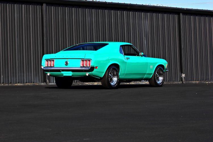 1970 Ford Mustang Boss 429 Fastback Muscle Classic Original USA -03 wallpaper