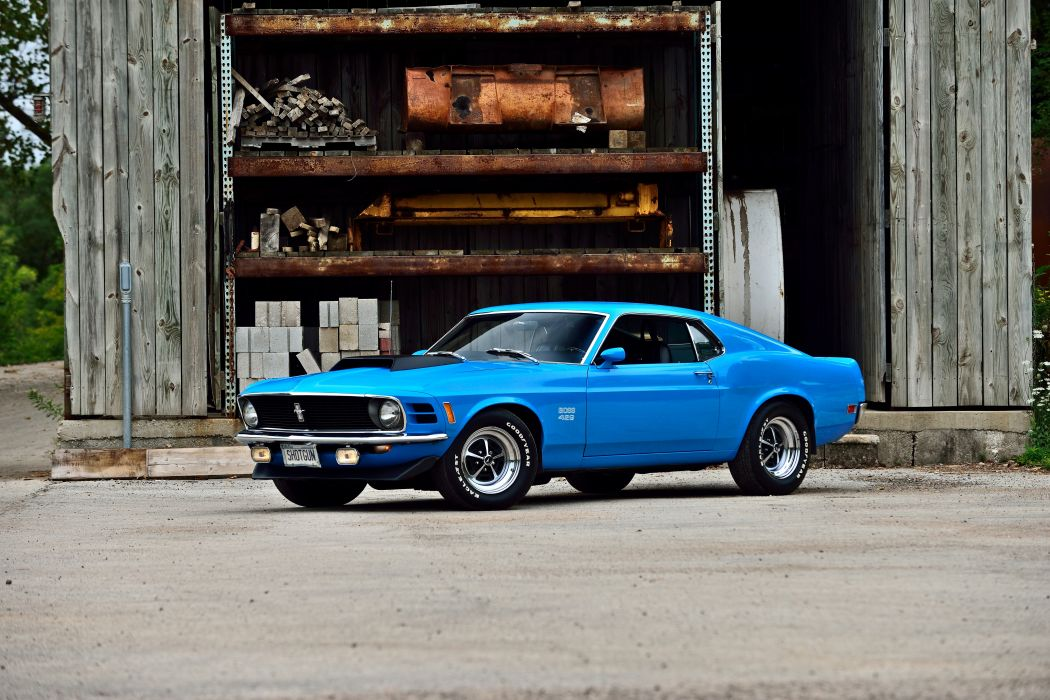 1970 Ford Mustang Boss 429 Fastback Muscle Old Classic Original USA -01 wallpaper