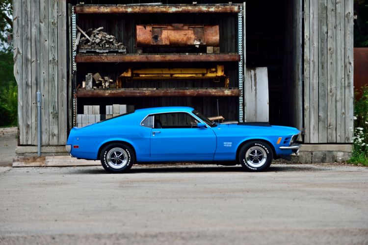1970 Ford Mustang Boss 429 Fastback Muscle Old Classic Original USA -02 wallpaper