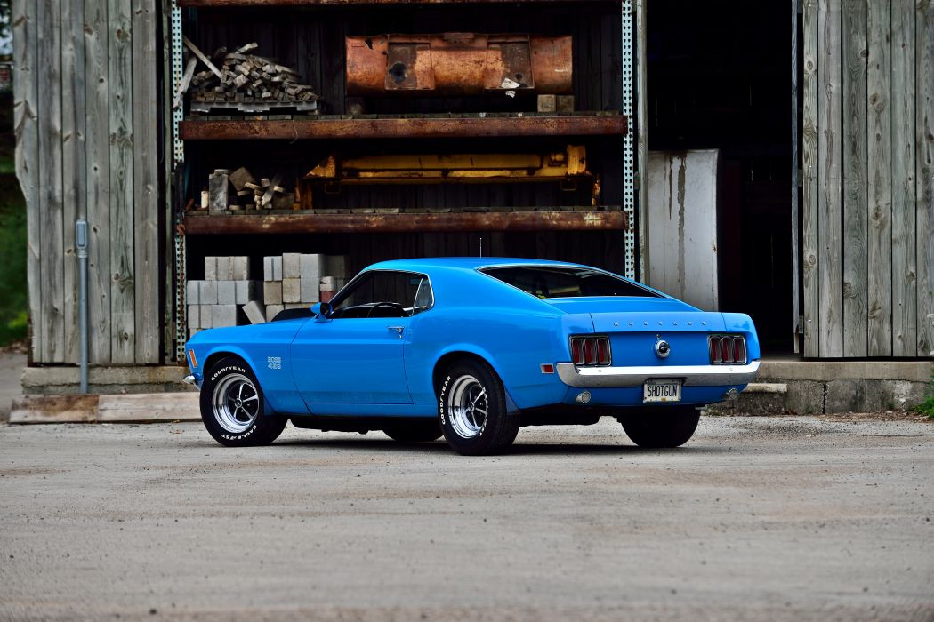 1970 Ford Mustang Boss 429 Fastback Muscle Old Classic Original USA -08 wallpaper