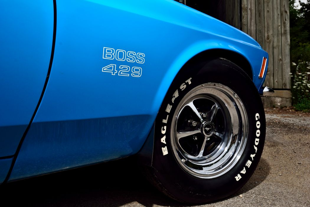 1970 Ford Mustang Boss 429 Fastback Muscle Old Classic Original USA -12 wallpaper