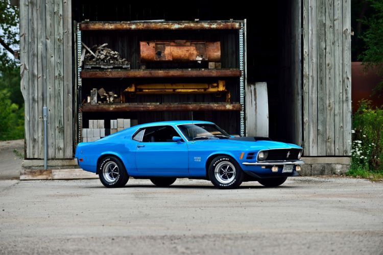 1970 Ford Mustang Boss 429 Fastback Muscle Old Classic Original USA -09 wallpaper