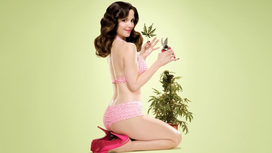 Sensuality girls-women-sexy-sensual-weeds-pruning wallpaper