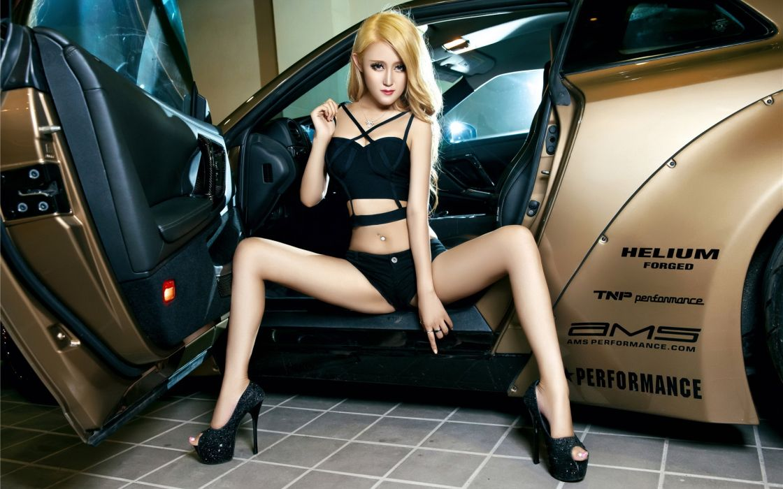 Women & Machines girls-women-sexy-sensual-blonde-model-legs-car-tnp-ams wallpaper