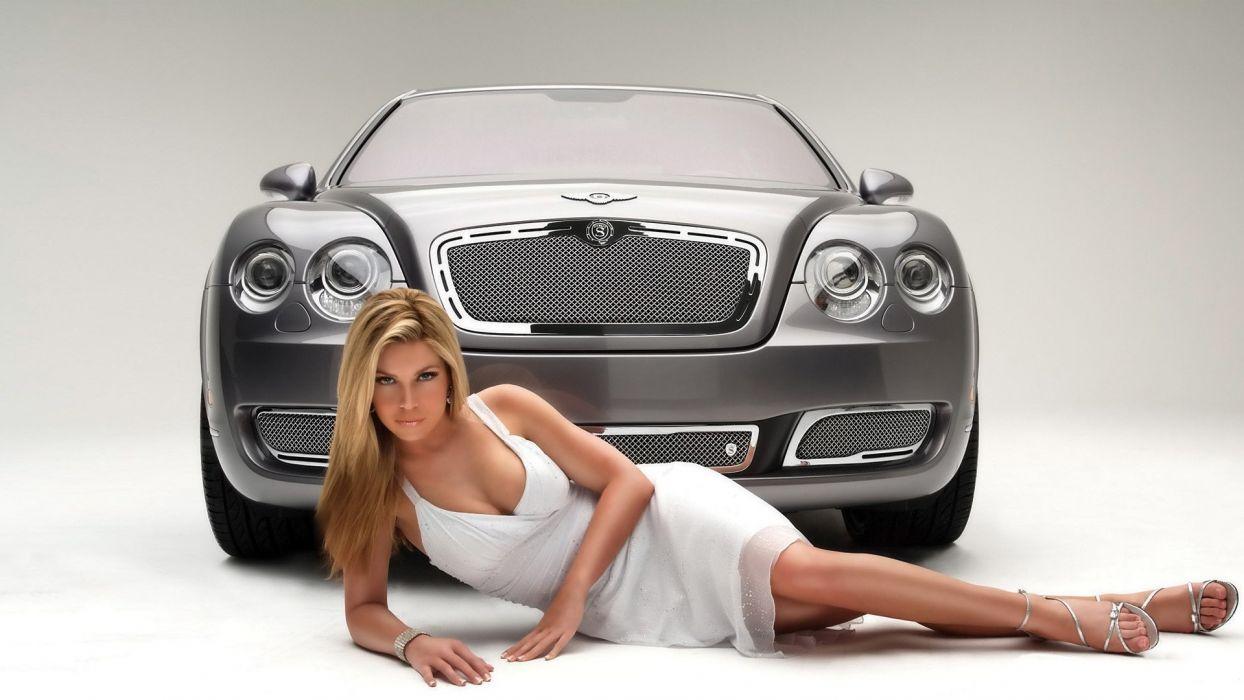 Women & Machines girls-women-sexy-sensual-model-blonde-car-posing wallpaper