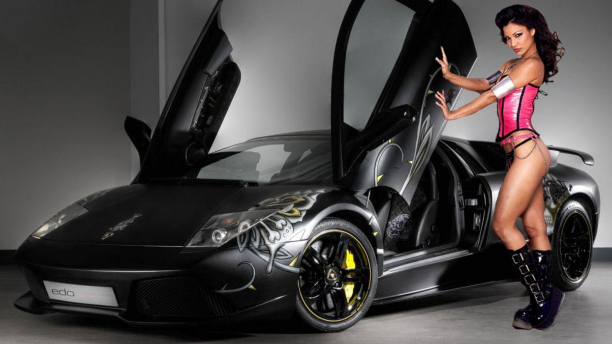 Women & Machines girls-women-sexy-sensual-model-car-gray wallpaper