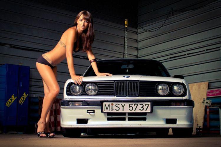 Women & Machines girls-women-sexy-sensual-model-legs-car-bikini wallpaper