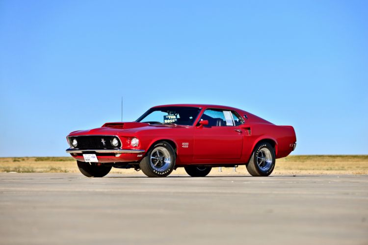 1969 Ford Mustang Boss 429 Fastback Muscle Old Classic Original USA -01 wallpaper