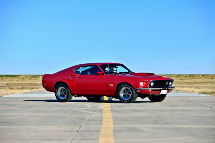 1969 Ford Mustang Boss 429 Fastback Muscle Old Classic Original USA -08 wallpaper