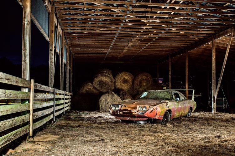 1969 Dodger Daytona Rusty Abandoned Forgotten Junkyeard Muscle Old Classic USA -01 wallpaper