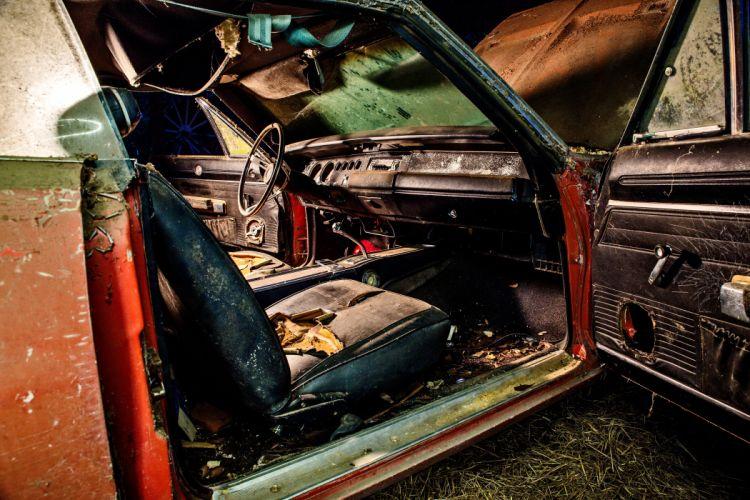 1969 Dodger Daytona Rusty Abandoned Forgotten Junkyeard Muscle Old Classic USA -09 wallpaper