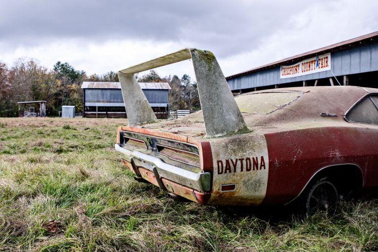 1969 Dodger Daytona Rusty Abandoned Forgotten Junkyeard Muscle Old Classic USA -13 wallpaper