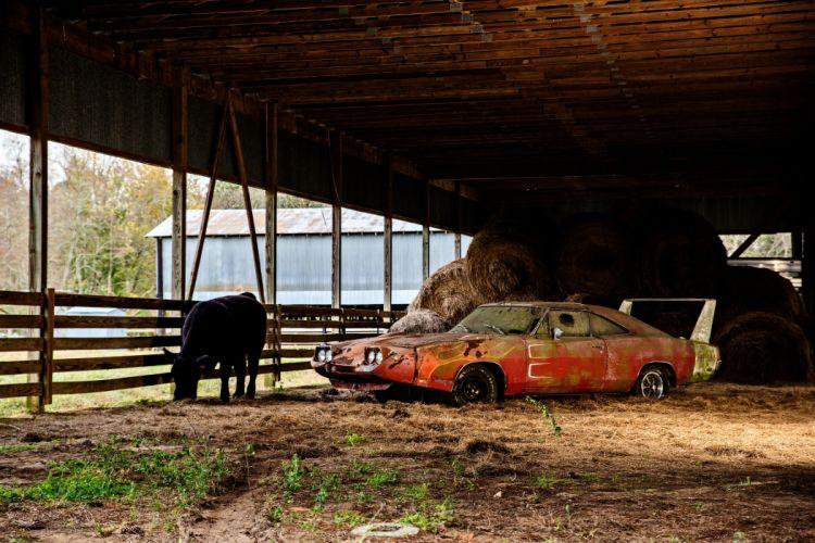 1969 Dodger Daytona Rusty Abandoned Forgotten Junkyeard Muscle Old Classic USA -26 wallpaper