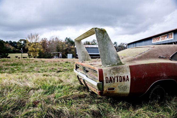 1969 Dodger Daytona Rusty Abandoned Forgotten Junkyeard Muscle Old Classic USA -31 wallpaper