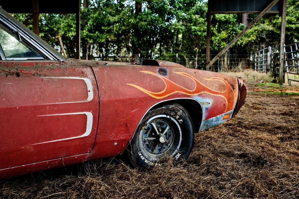 1969 Dodger Daytona Rusty Abandoned Forgotten Junkyeard Muscle Old Classic USA -42 wallpaper