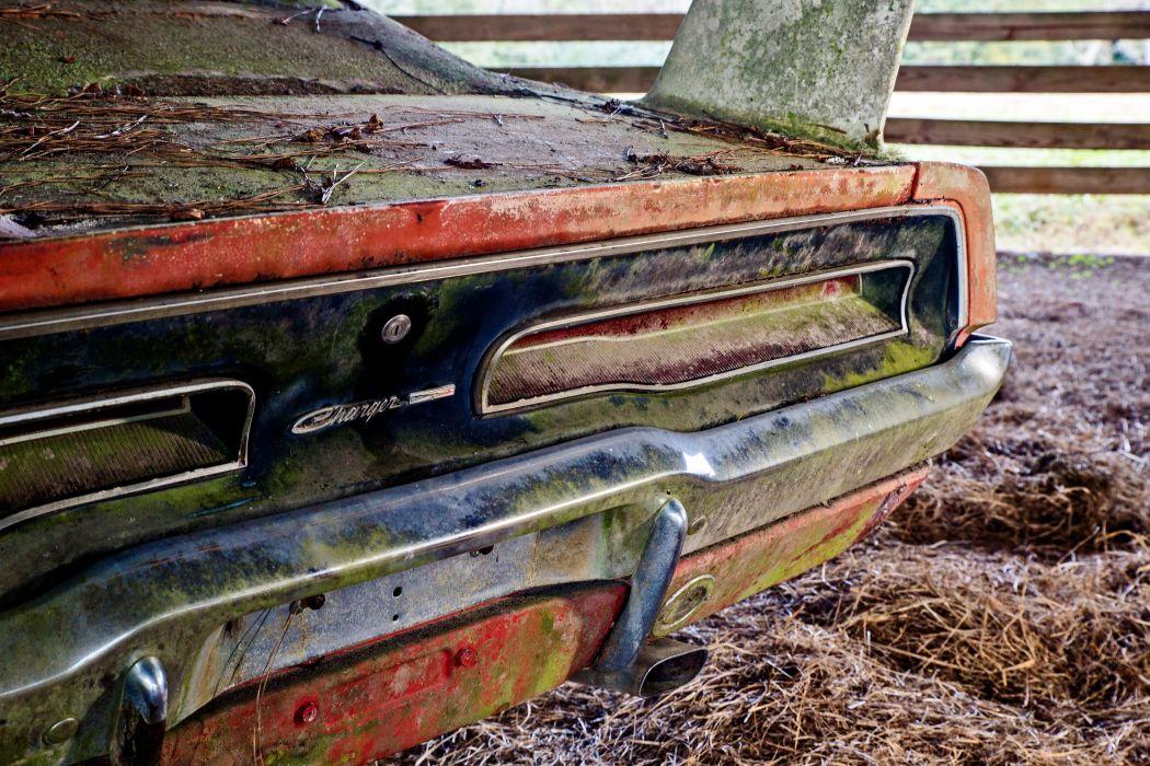 1969 Dodger Daytona Rusty Abandoned Forgotten Junkyeard Muscle Old Classic USA -47 wallpaper