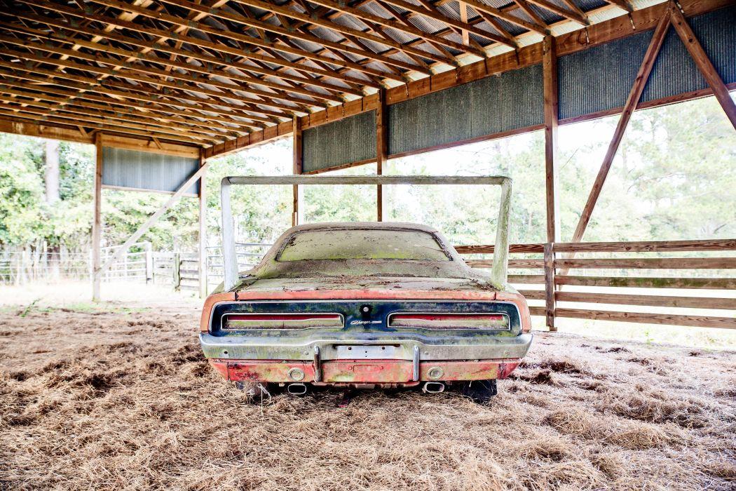 1969 Dodger Daytona Rusty Abandoned Forgotten Junkyeard Muscle Old Classic USA -53 wallpaper