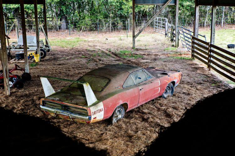 1969 Dodger Daytona Rusty Abandoned Forgotten Junkyeard Muscle Old Classic USA -55 wallpaper